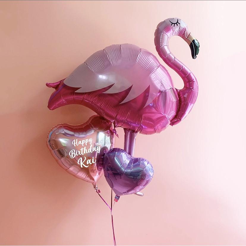 【期間限定・送料無料】Message balloon FLAMINGO