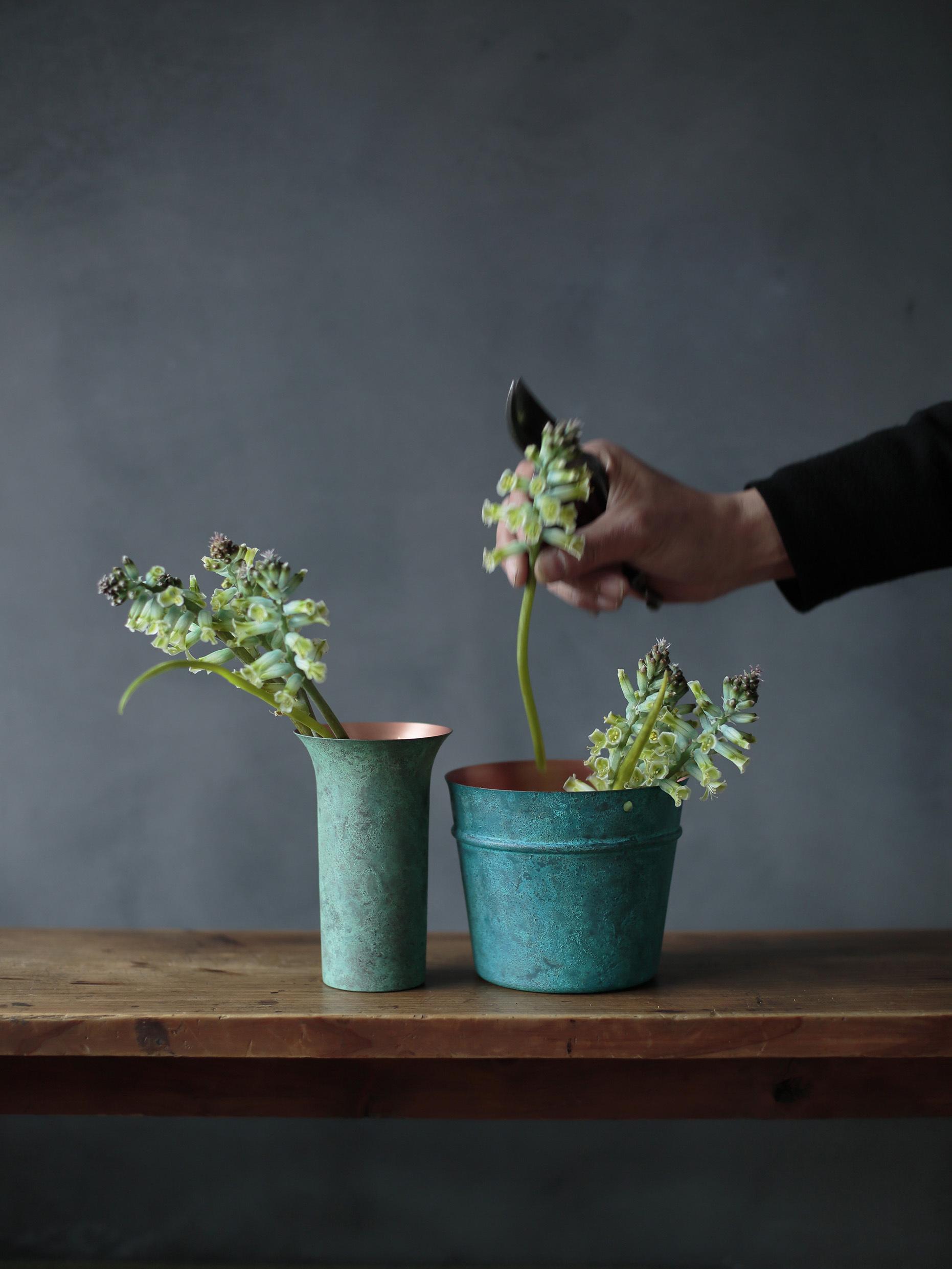tone flower vase green - 画像2