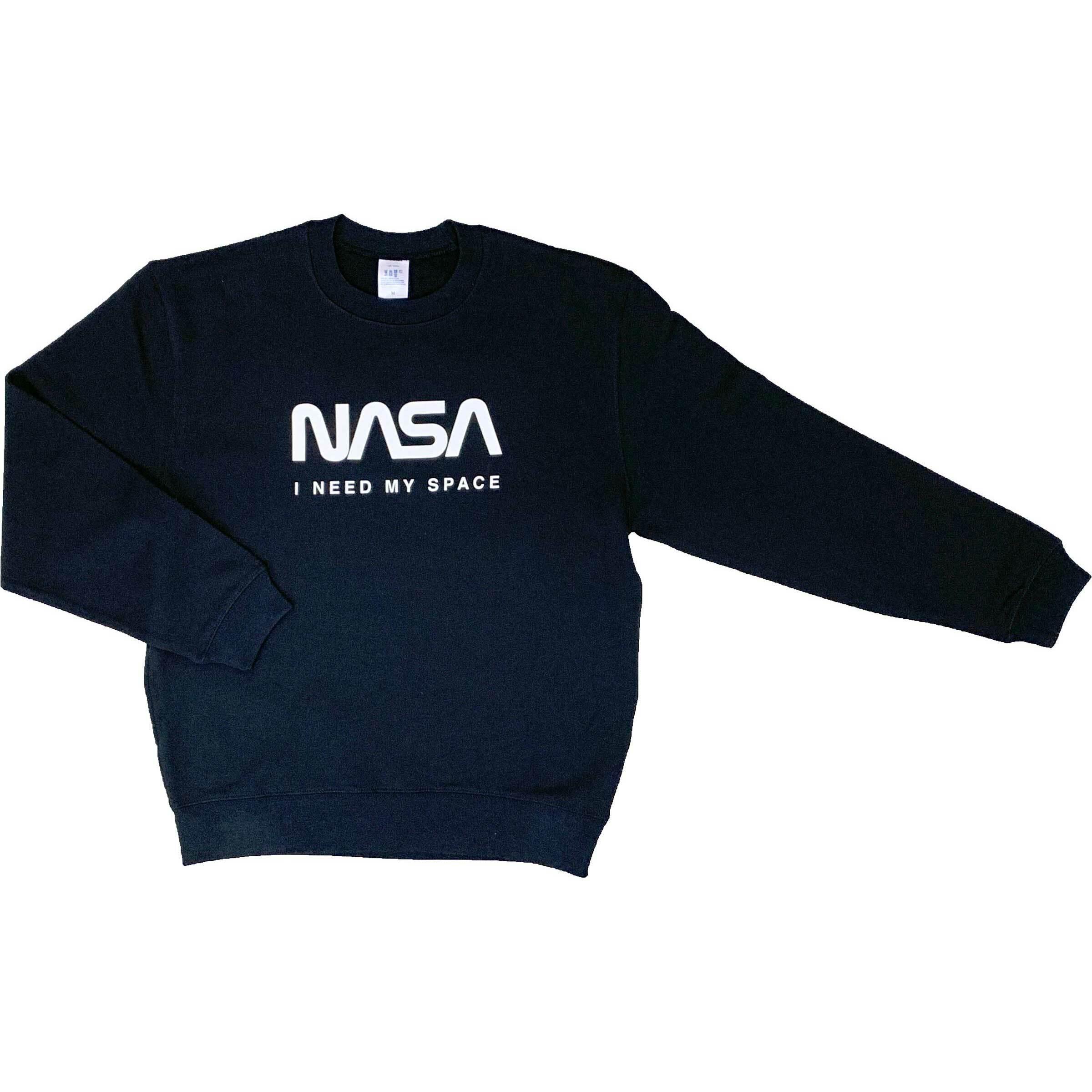 NASA公認(アメリカ航空宇宙局)・トレーナー・JERZEES(ジャージーズ)ボディ・ロゴタイプ(ワーム)・ブラック