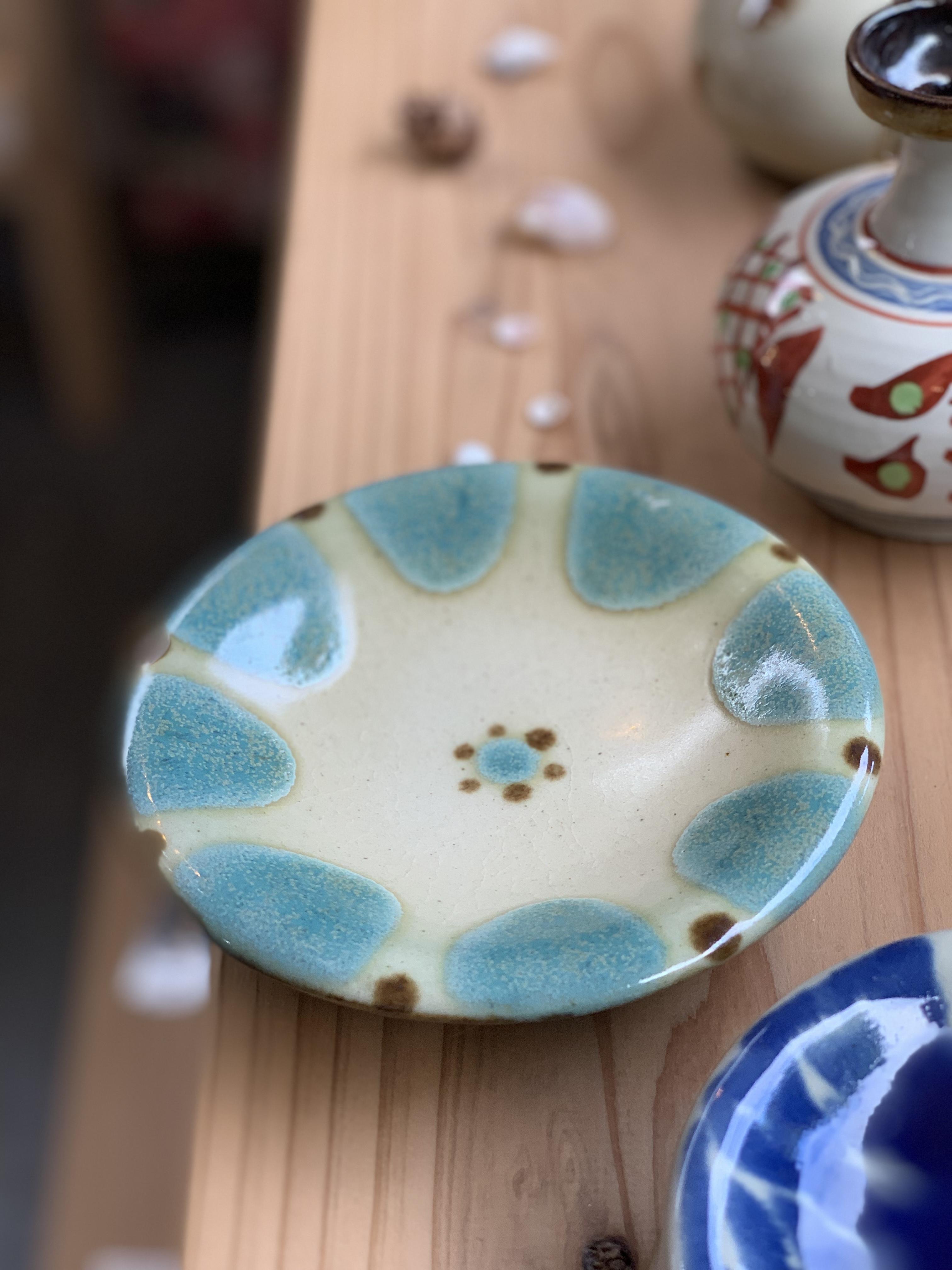 皿6寸緑 ノモ陶器製作所
