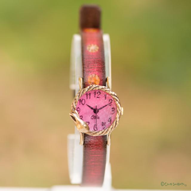 夢みるうさぎ腕時計Sチェリー