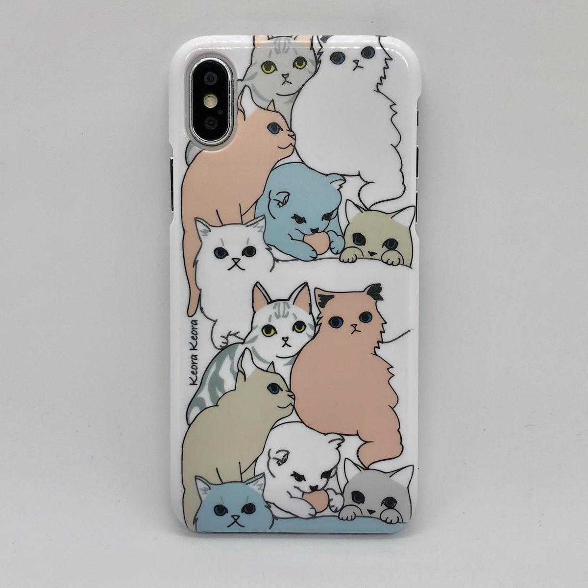 【iPhoneX/Xs専用】INDOOR CATS ホワイト
