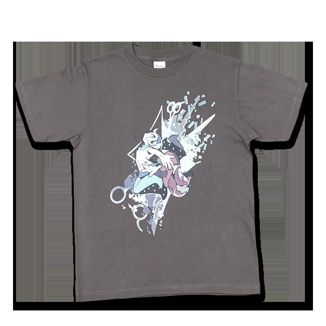 DECO*27「モザイクロール」Tシャツ メンズ:チャコール - 画像1