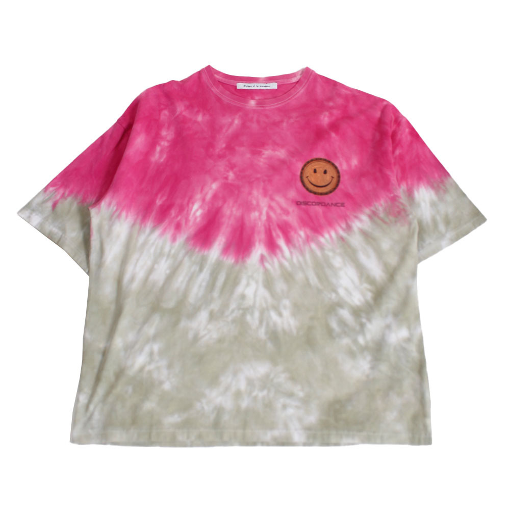 CHILDREN OF THE DISCORDANCE Hand Dyeing Tee Pink