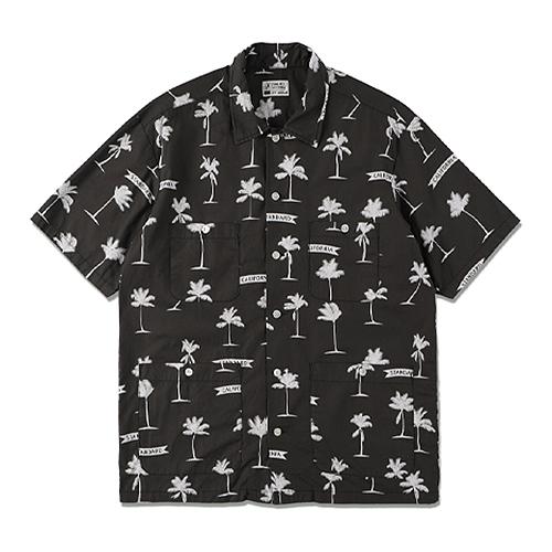 STANDARD CALIFORNIA #SD Palm Tree Shirt Fabric Designed By Jeff Canham Black