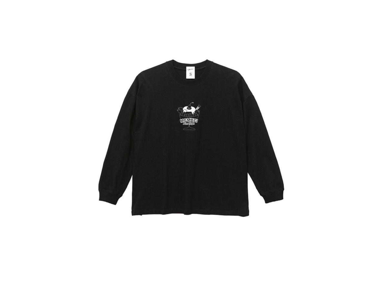 coguchi MCMXCI graphic long T-shirts (BLK)