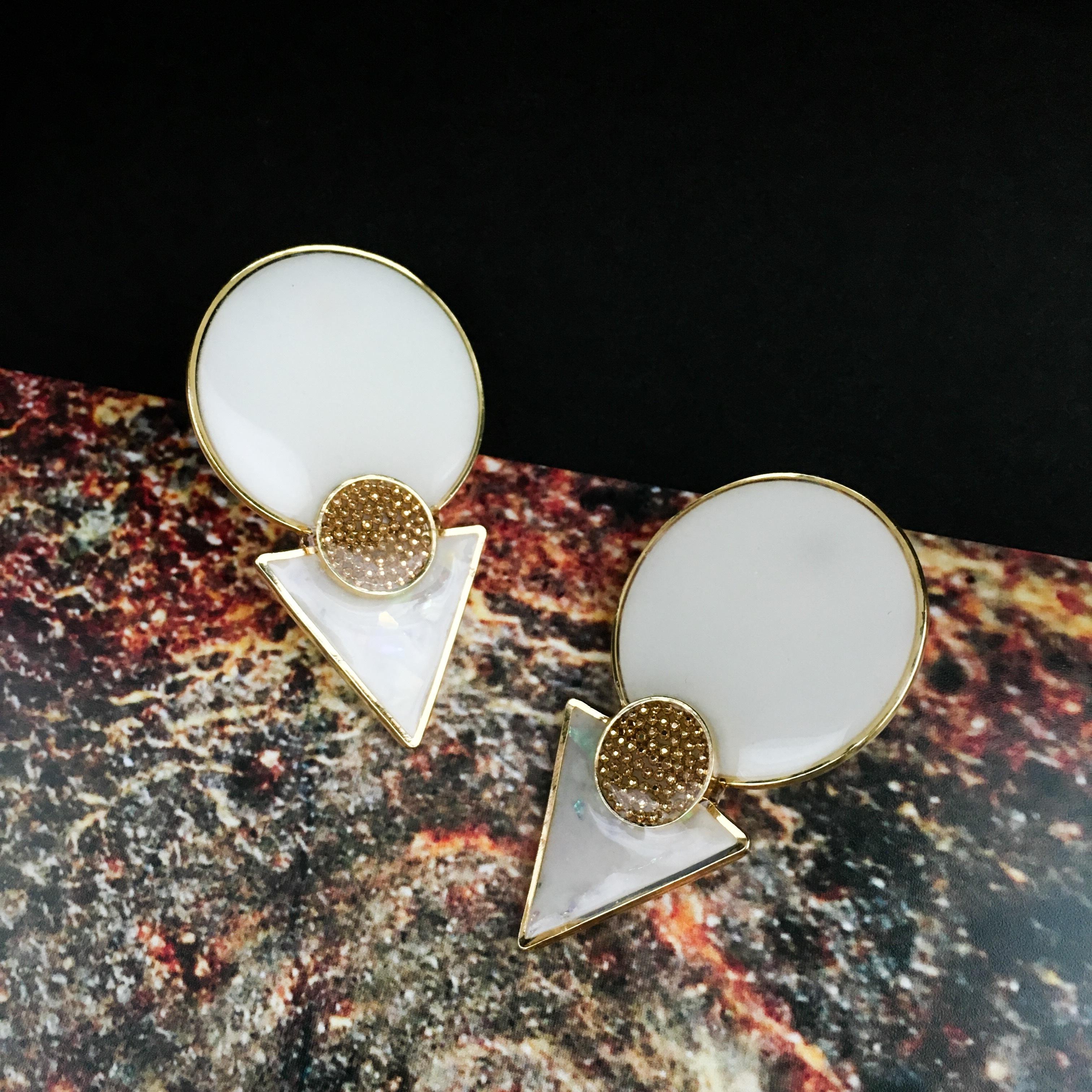 E-3 pierce14KGF/earring(white)