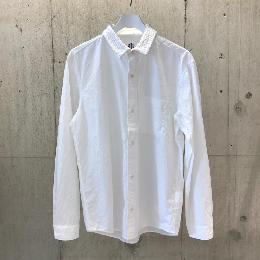 KUON 襟手刺し子 SHIRTS WHITE