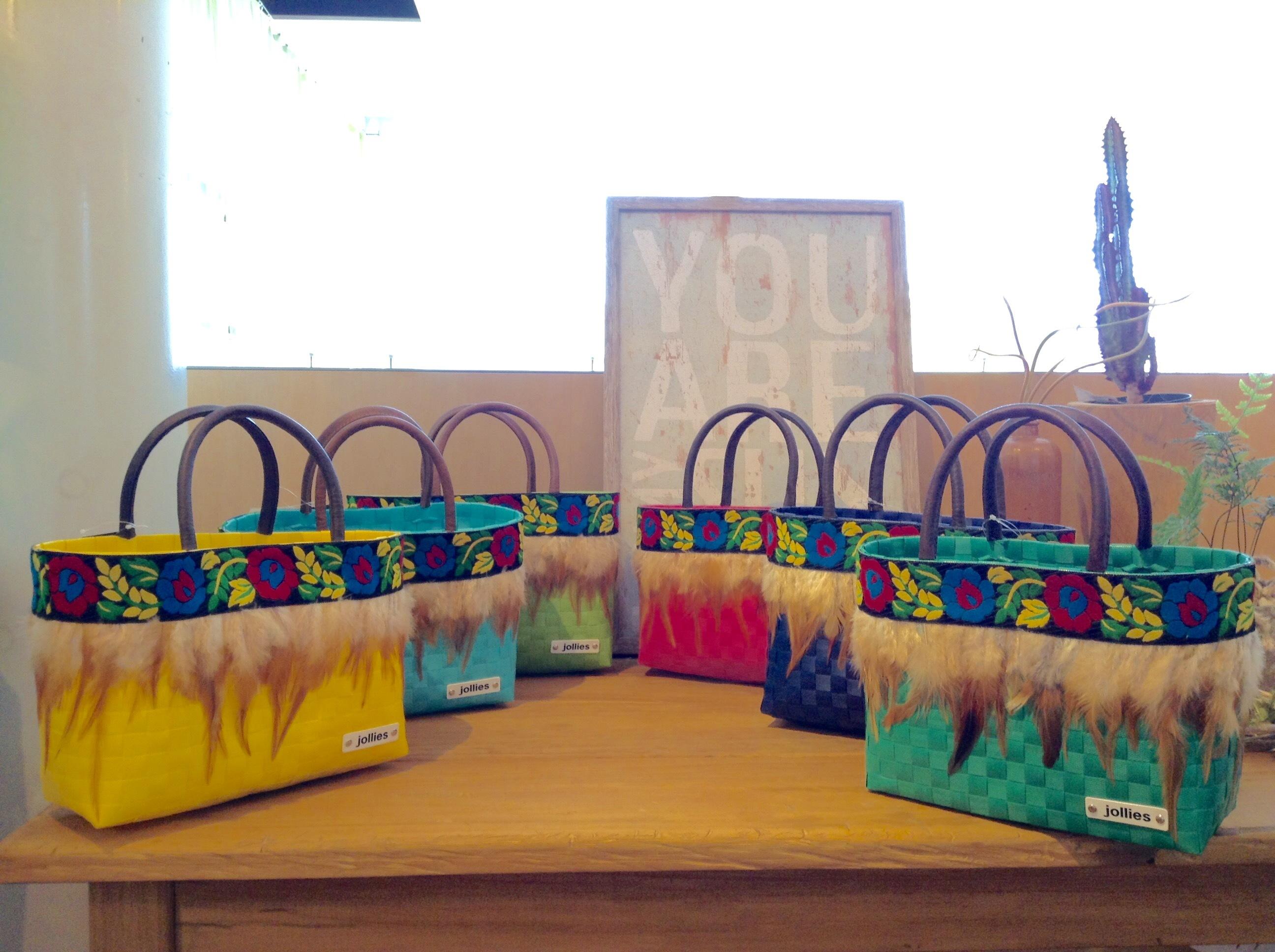 カラフル  ミニフェザーバッグ(全6色)  ライトグリーン、イエロー、ミント