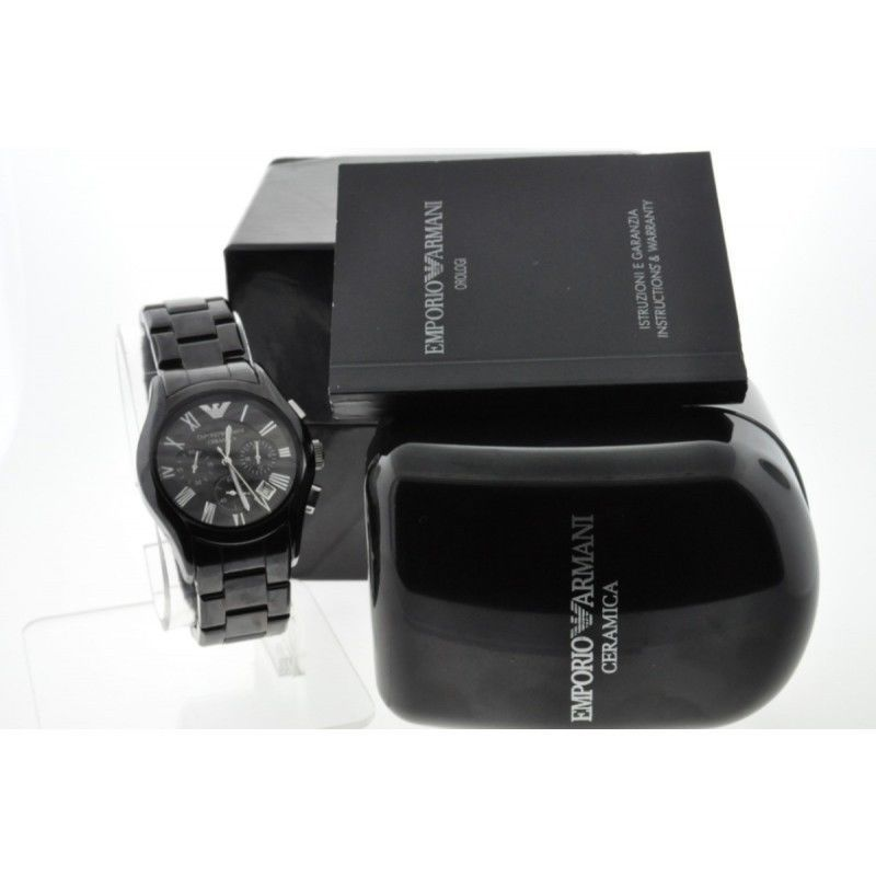ジェットブラック エンポリオアルマーニ メンズ腕時計 AR1400