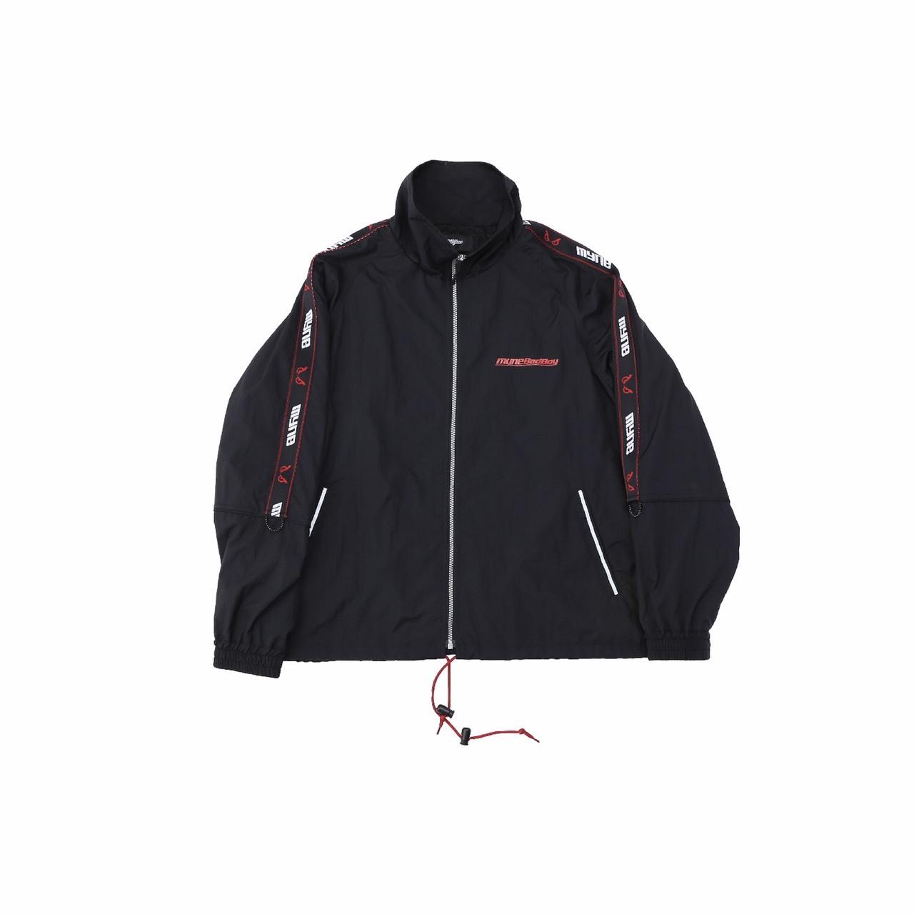 MYne × BADBOY Track jacket / BLACK - 画像1
