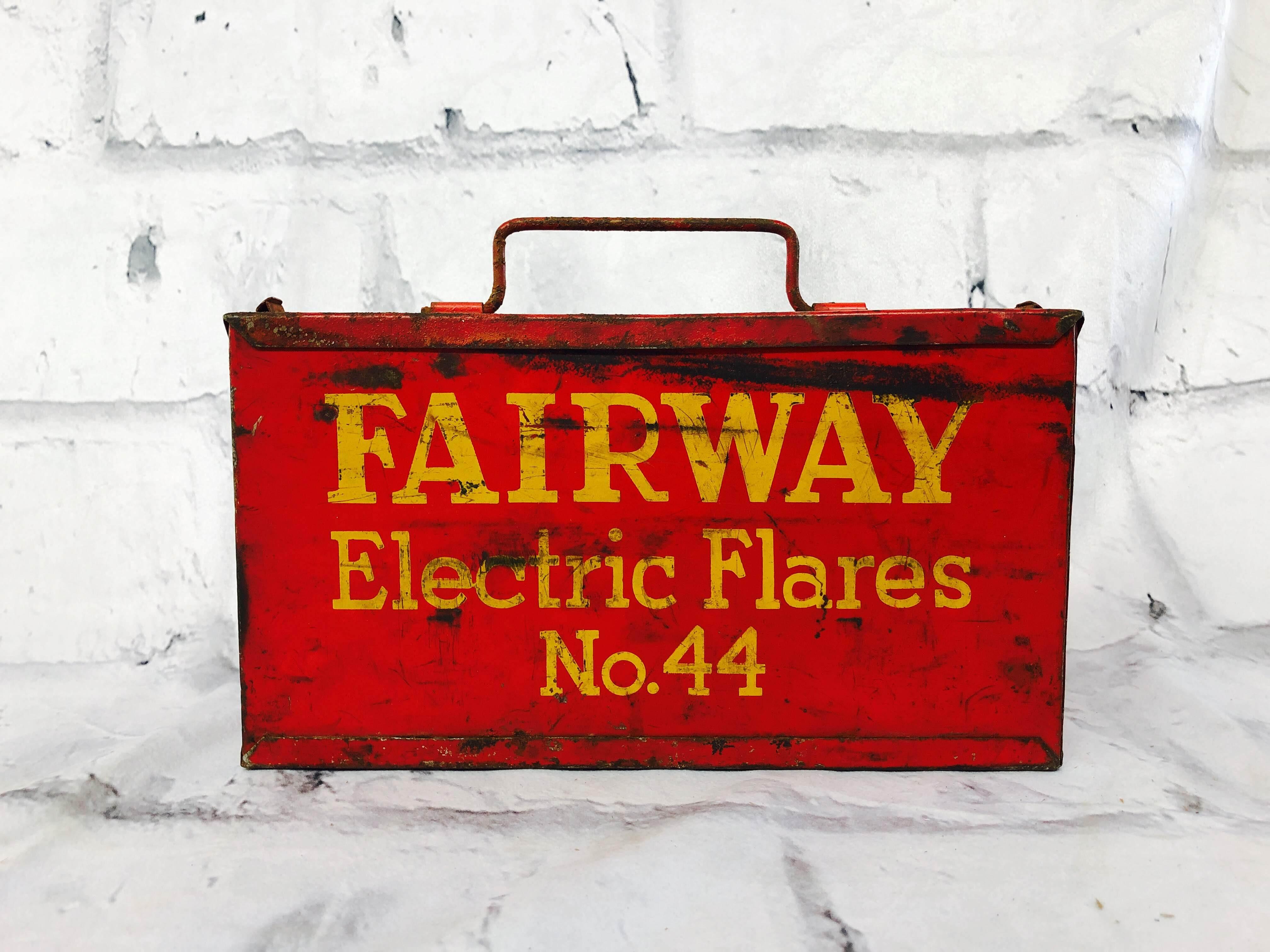 品番6145 工具ケース FAIRWAY Electric Flares №44 レッド ツールボックス ヴィンテージ