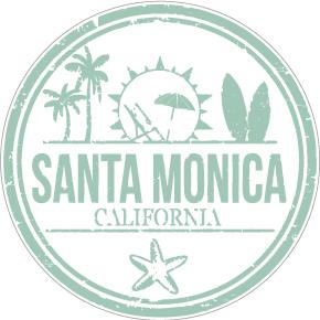 """045 憧れのサンタモニカ """"California Market Center"""" アメリカンステッカー スーツケース シール"""