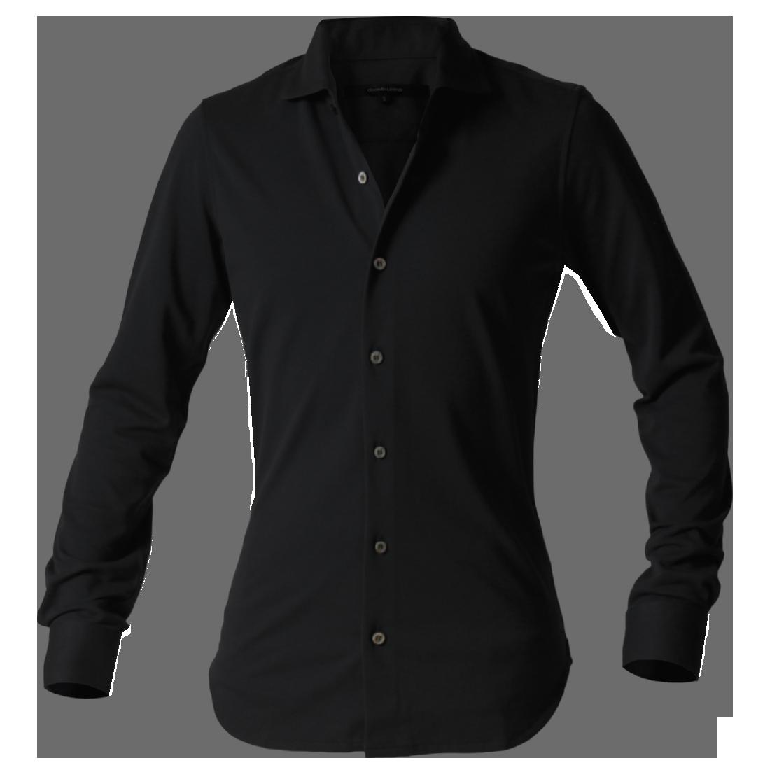 DJS-002 decollouomo メンズドレスシャツ長袖 concorde - ブラックアウト
