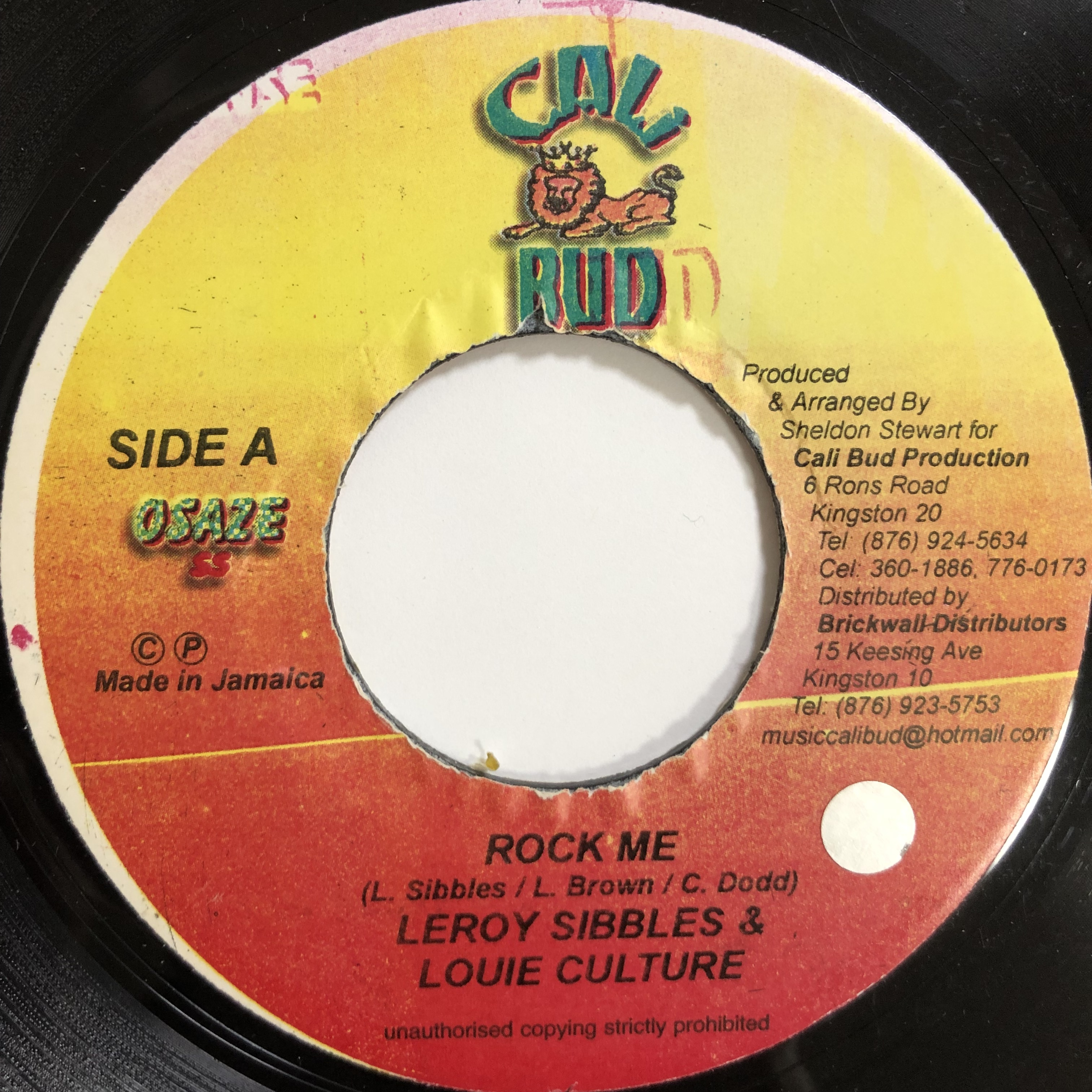Leroy Sibbles , Louie Culture - Rock Me【7-20037】