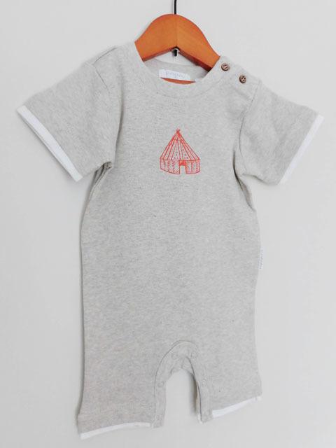 オーガニックコットン 半袖ロンパースギフトセット【0-3か月】ベビー服 【purebaby】