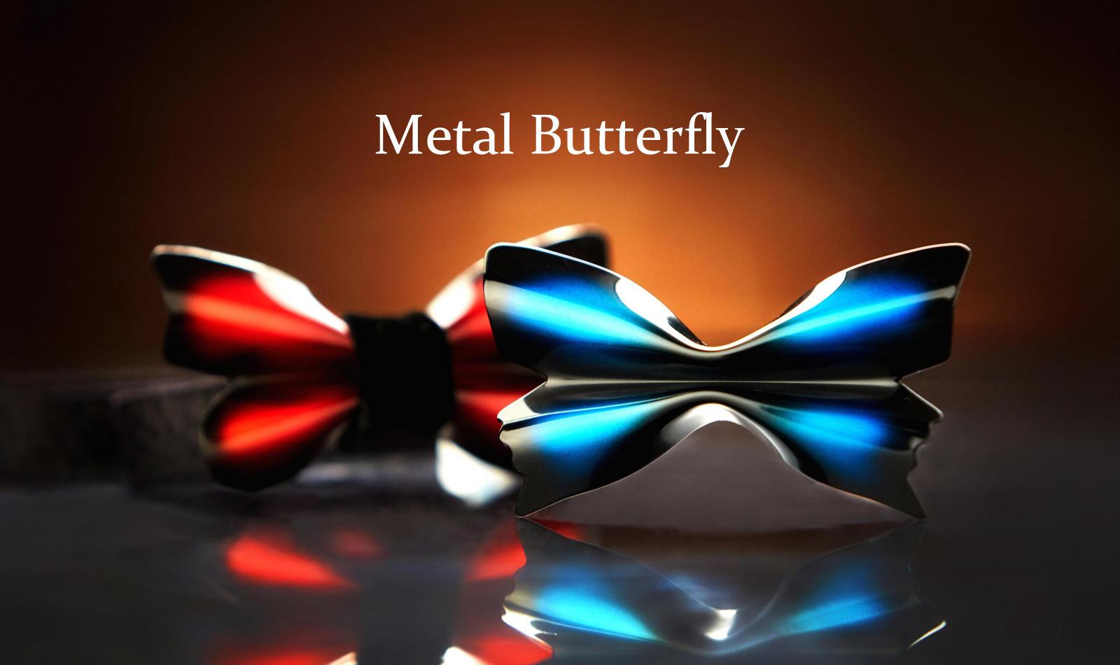 金属製蝶ネクタイ Metal Butterfly