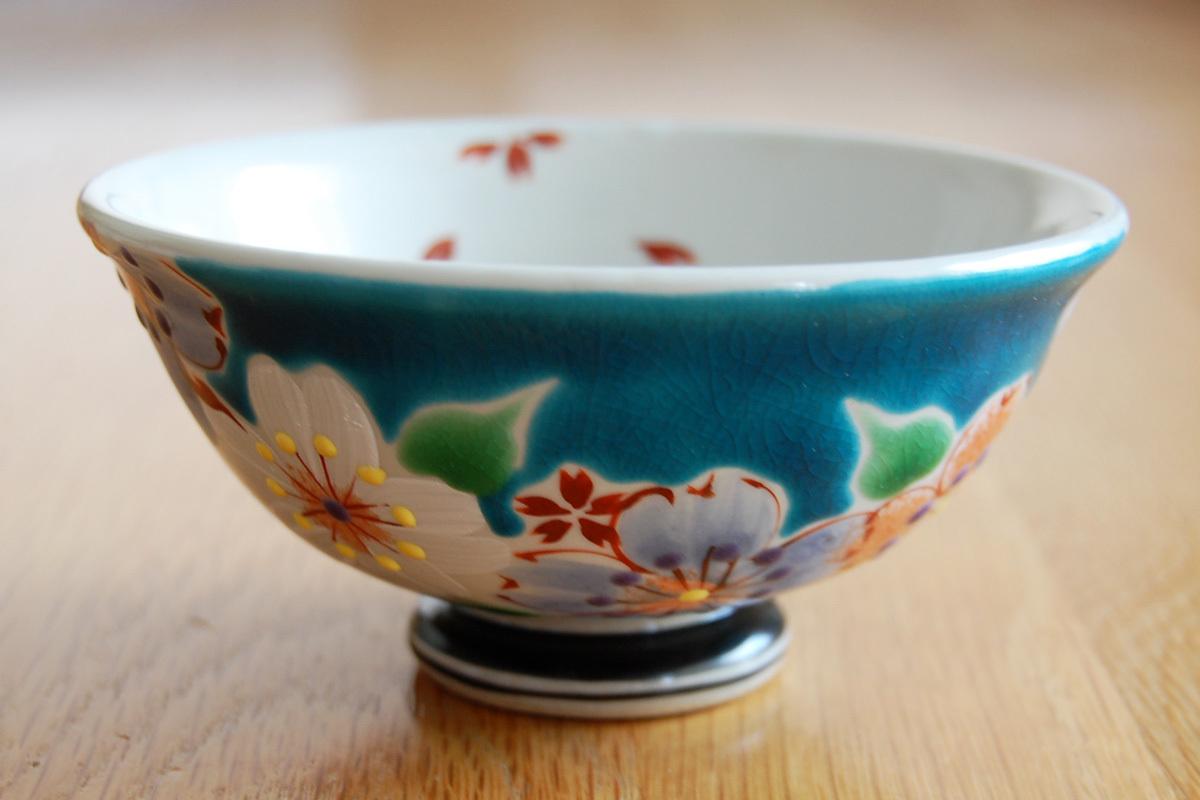 飯碗 桜の宴ブルー