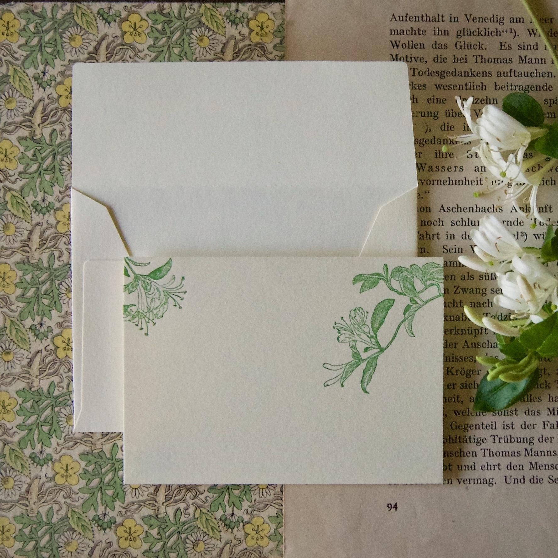 【カード 小】 スイカズラ / カード1枚+封筒1枚