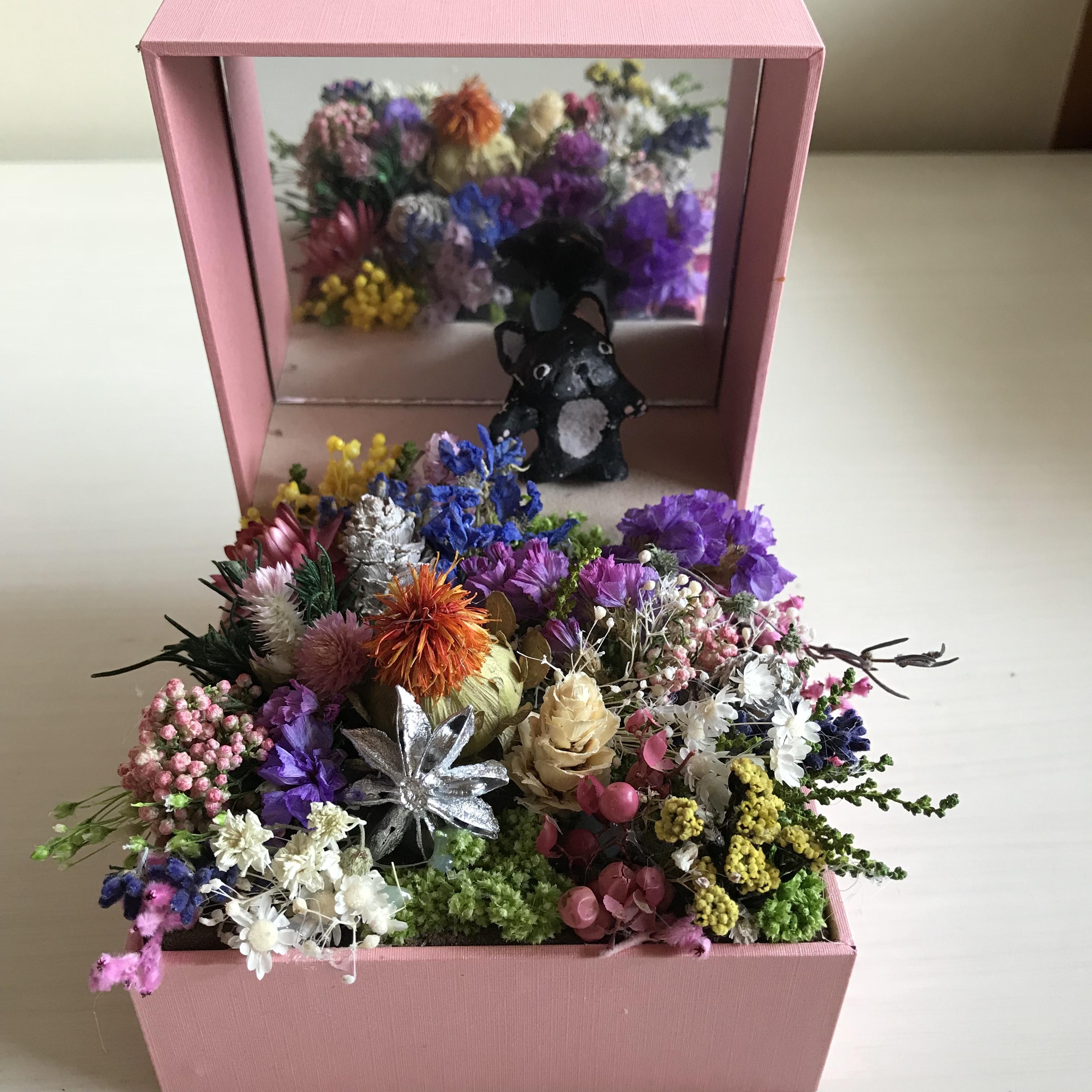 ジュエリーBOXのお花畑(BUHI選べます)ブリンドル(他の色はご相談ください)