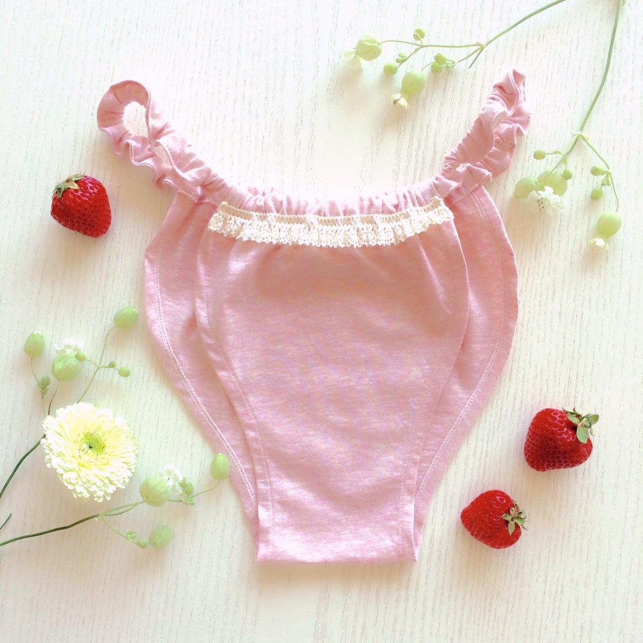 FLORA-LACE(strawberry)/オーガニックコットン100%/ミニ