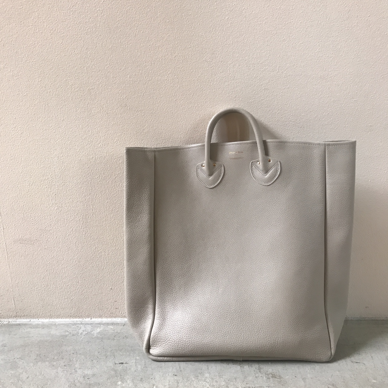 YOUNG & OLSEN - EMBOSSED LEATHER TOTE L