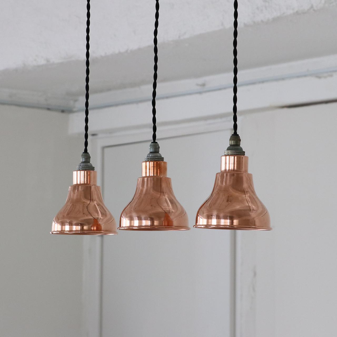 Copper mini A pendant lamp / model.1