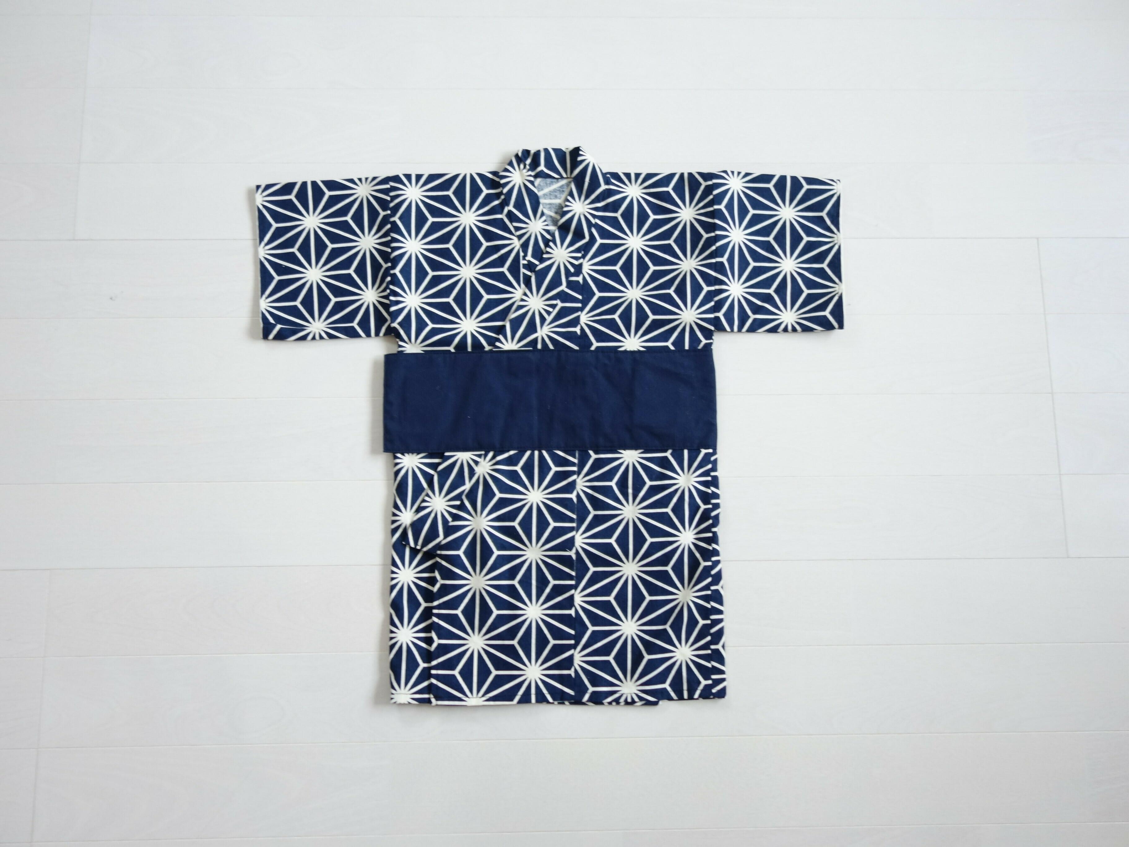 ファースト着物 単品 (椿・麻の葉)