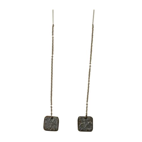 《ピアス》TIN BREATH Pierced earring A 10×10mm Antique gold
