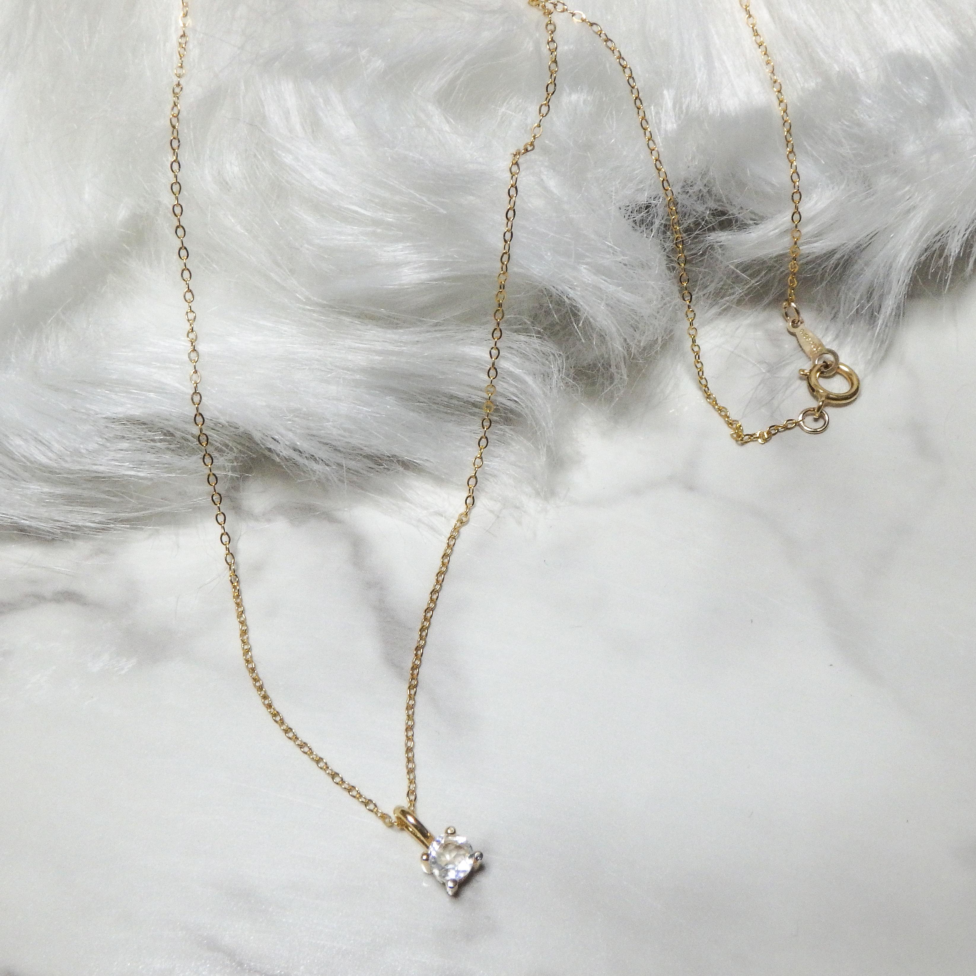 4㎜ Rainbow Moon Stone Necklace