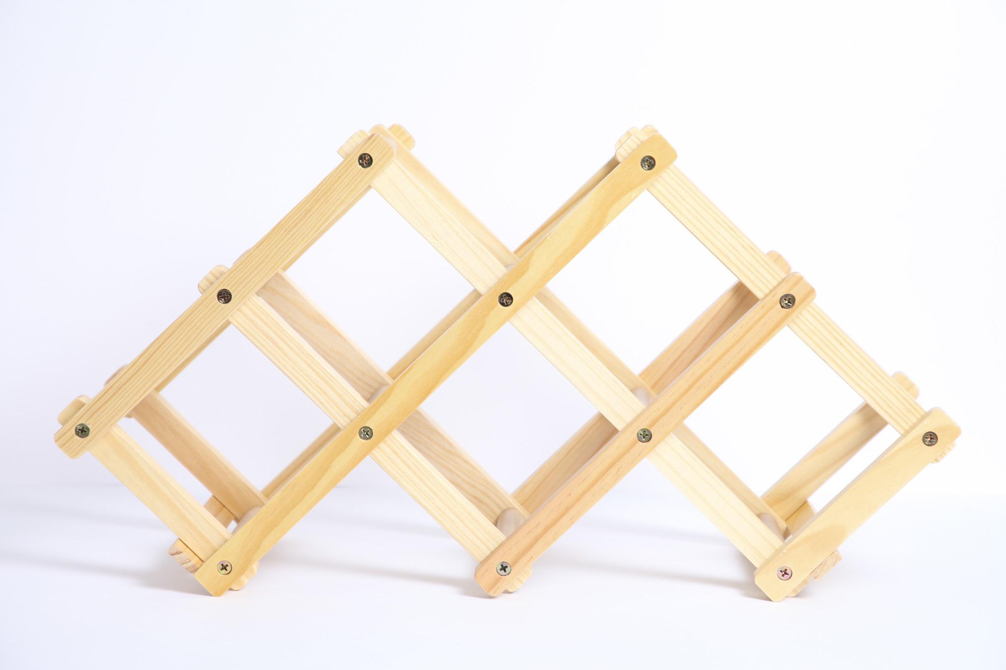 ワインラック 天然木 板尾工芸オリジナル - 画像2