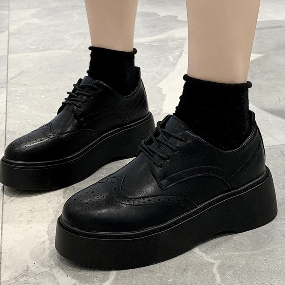 レトロ厚底カレッジシューズ【rétro platform  college shoes】