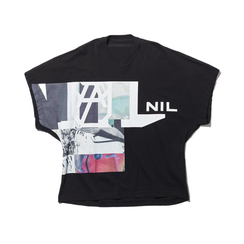 740CPM7-BLACK / NILøS プリント Tシャツ ver.5