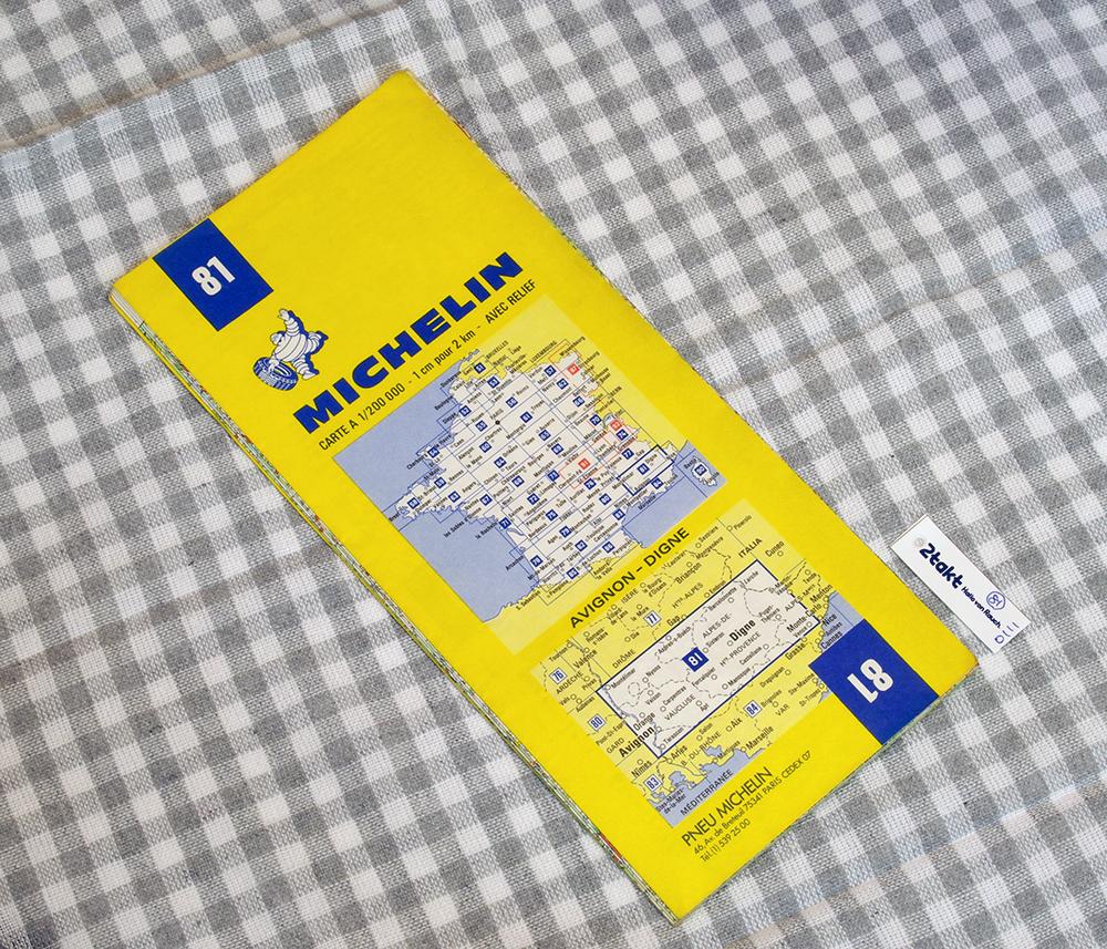【Vintage/Used品】1985 MICHELIN MAP No.81 フランス南東部 AVIGNON-DIGNE /0111