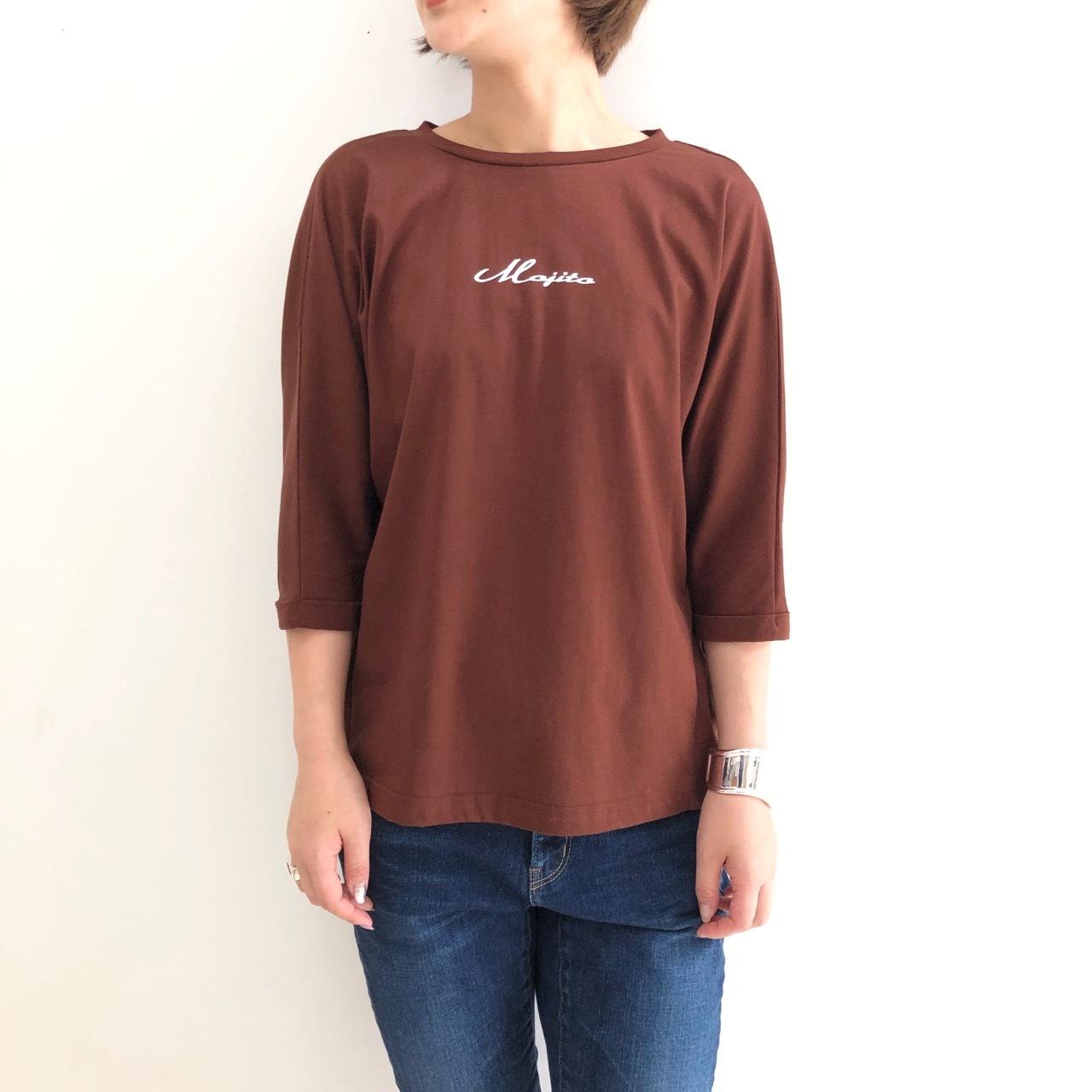 【 QTUME 】- 962-25659 - 五分袖プリントTeeシャツ