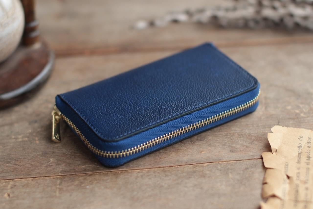 藍染革[shiboai]  全藍 コインケース