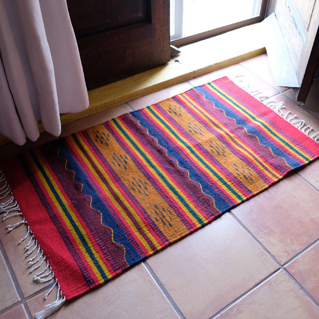 ラグ / メキシコ羊毛タペテ /223b/ Teotitlan Del Valle/ MEXICO
