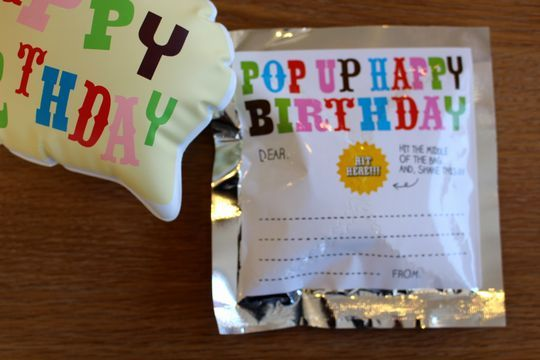 POP UP HAPPY BIRTHDAY