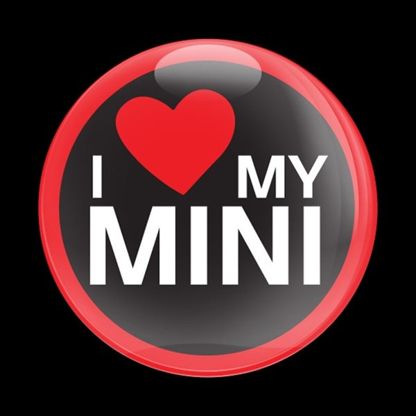 ドームバッジ(CD0287 - I LOVE MY MINI RED) - 画像1