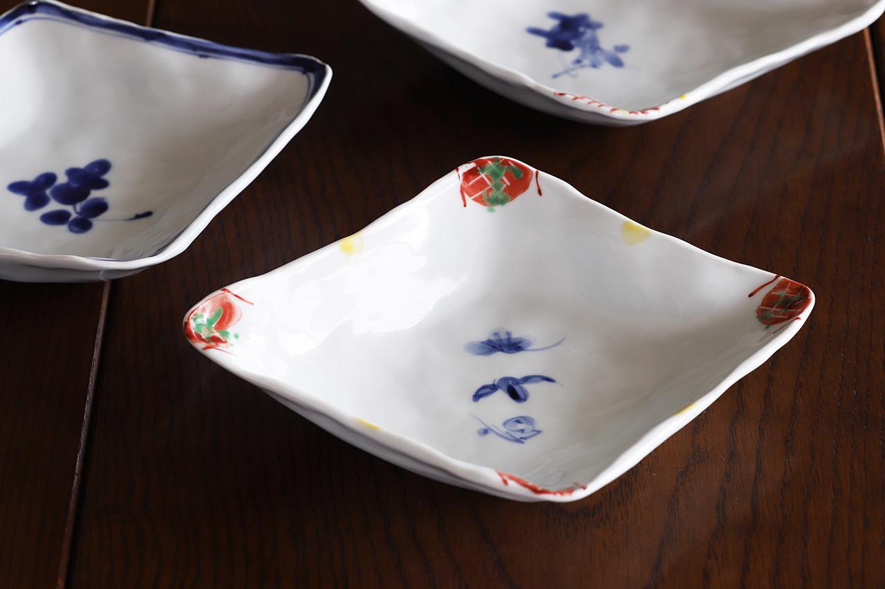 松尾貞一郎 ひし形取皿 191217-K15 貞土窯(有田焼)