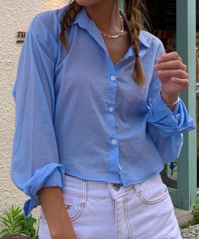 ショートシアーシャツ