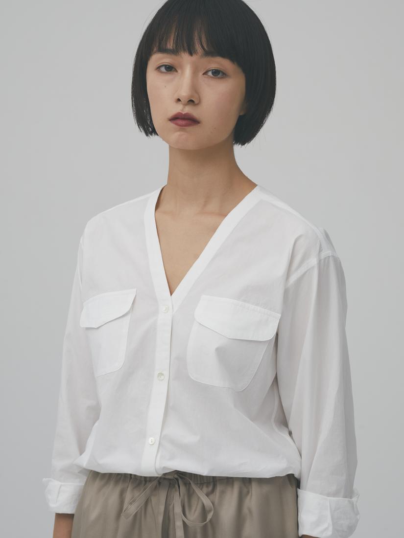 v-neck white shirt