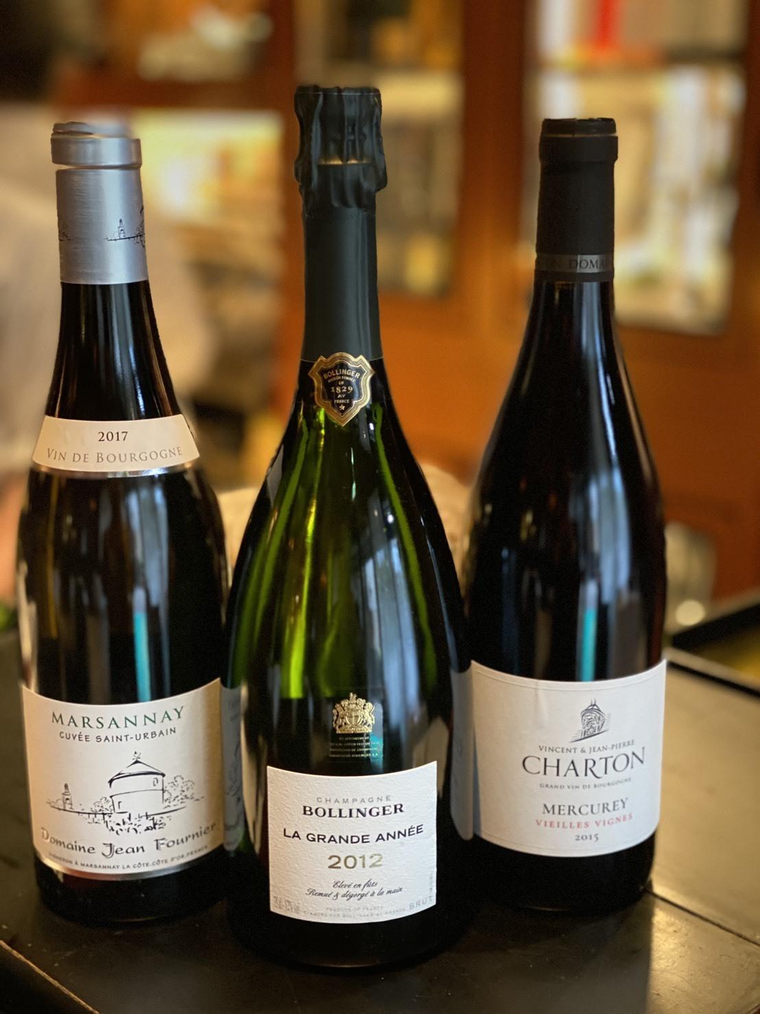 【期間数量限定】2012年 ボランジェグランダネと2017年マルサネ白ワインと2015年メルキュレィ赤ワイン スペシャルセット(計3本)