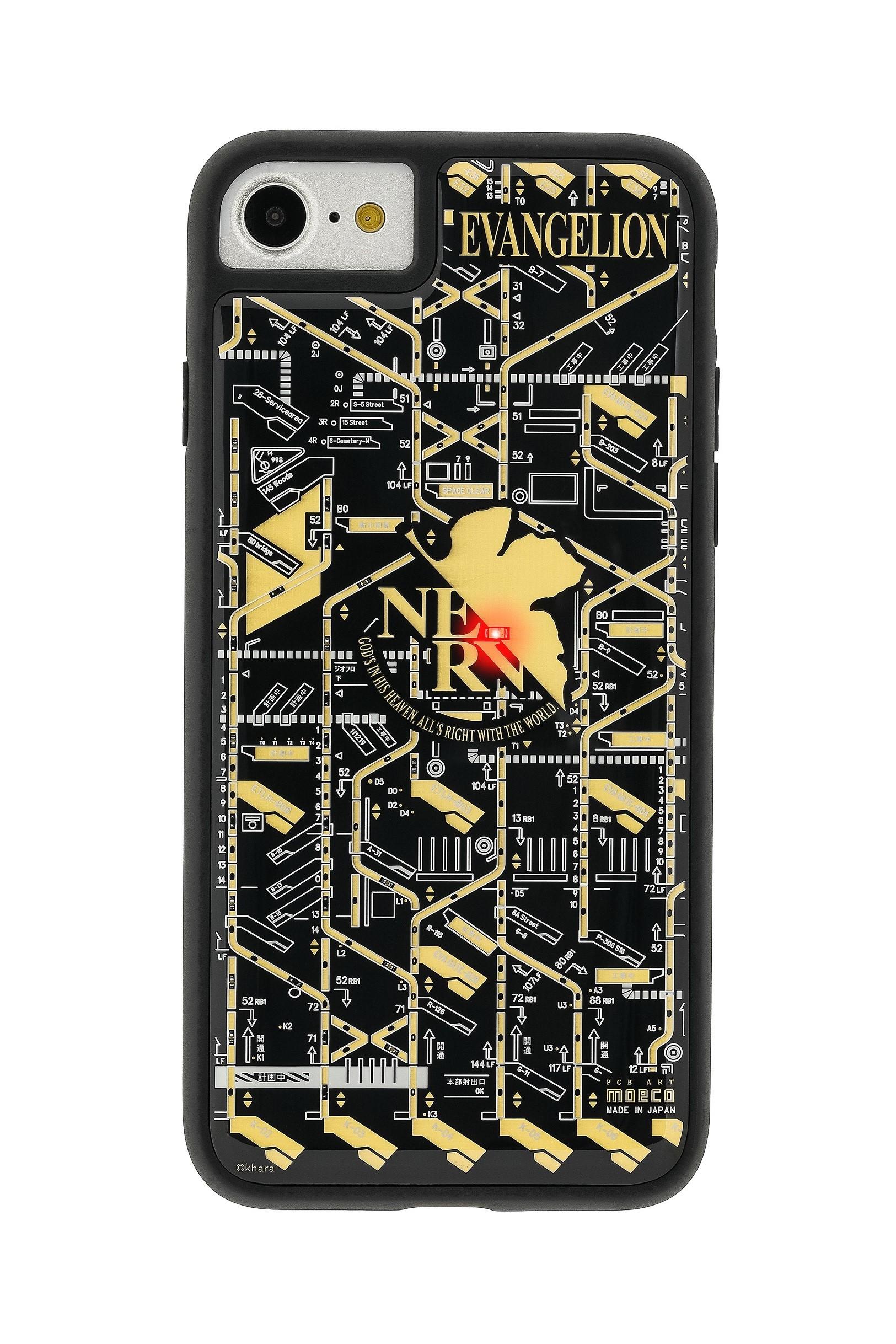 FLASH NERV 基板アート iPhoneSE(第2世代)/7/8ケース 黒【東京回路線図A5クリアファイルをプレゼント】