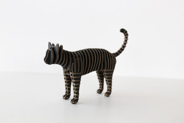 FLATS立体型パズル 立ち猫/cat146  黒