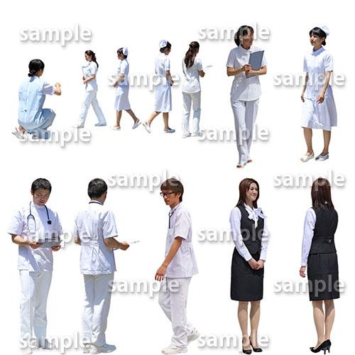 医療人物SketchUp素材10個 4p_set052 - 画像2