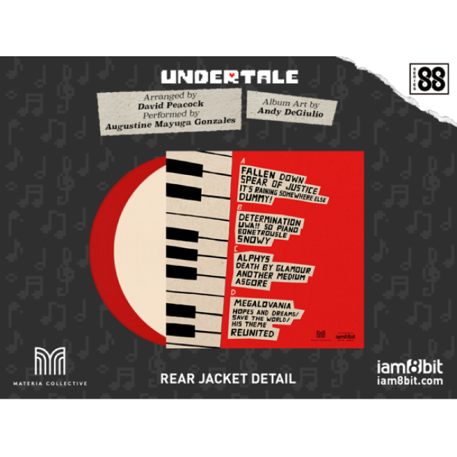 【UNDERTALE(アンダーテイル)】アンダーテイル・オン・ピアノ(シリーズ88)2LP - 画像4