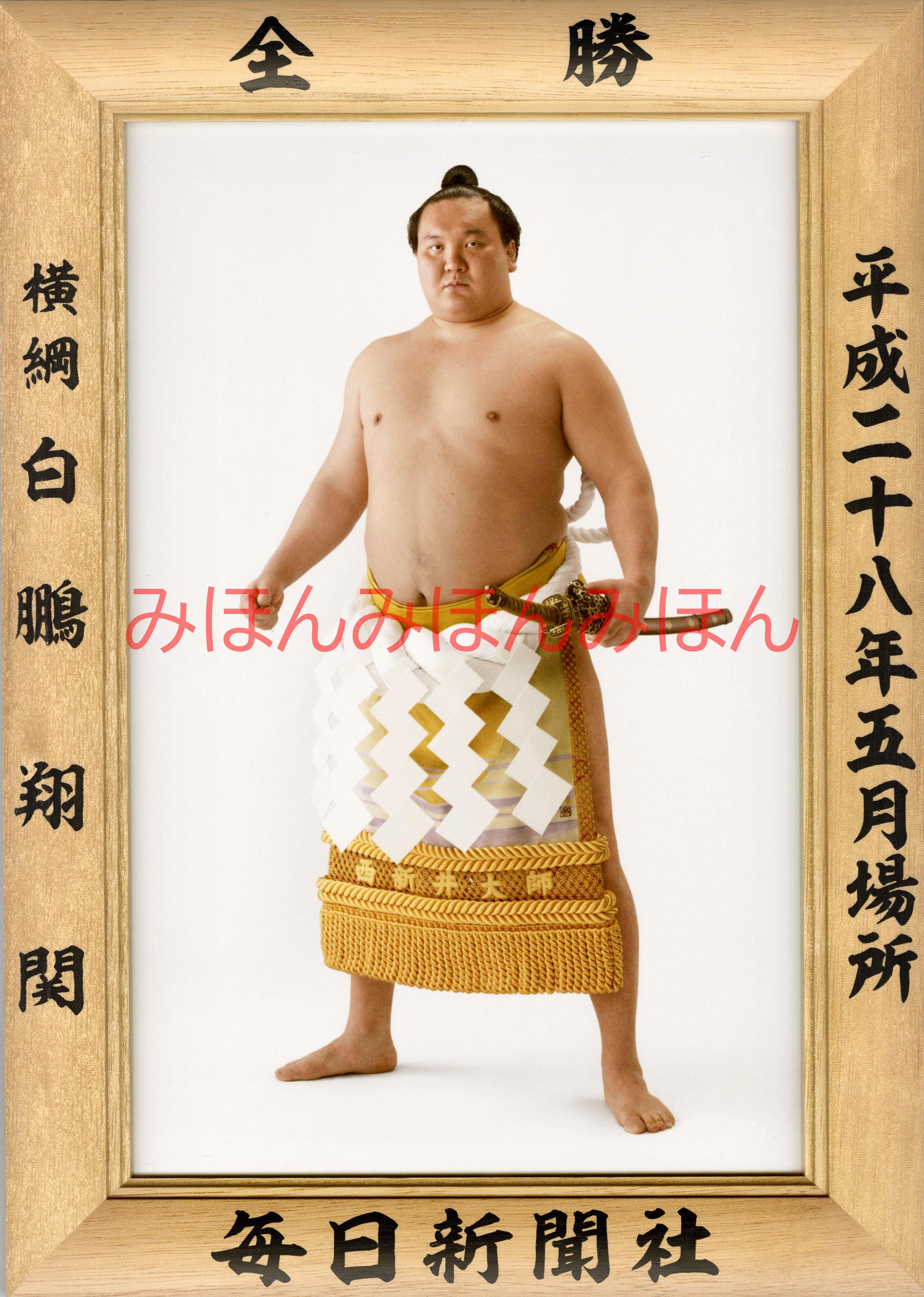 平成28年5月場所全勝 横綱 白鵬翔関(37回目の優勝)