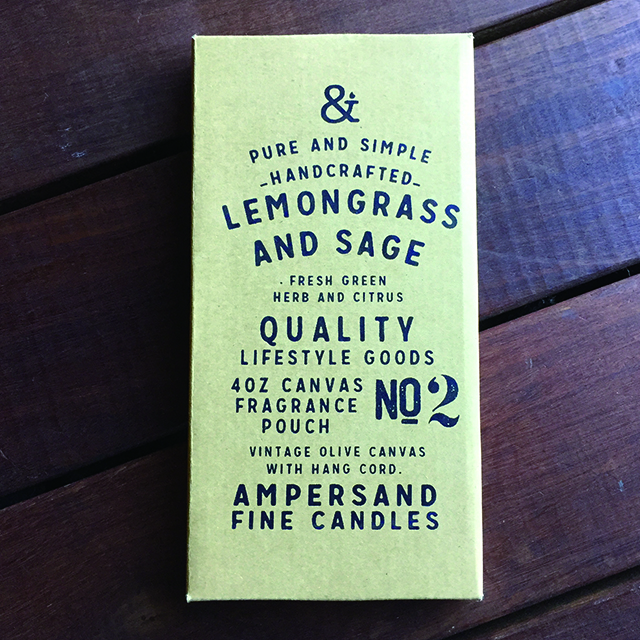 Canvas Fragrance Pouch -LEMONGRASS AND SAGE- キャンドル Candles - 画像1