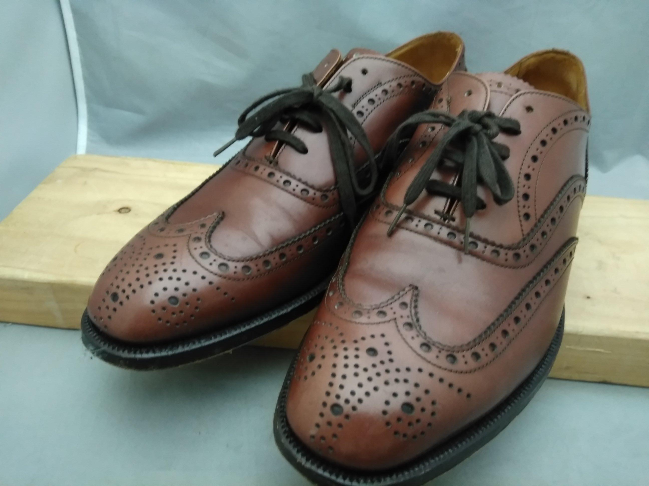 バーバリー 革靴 ビジネスシューズ 25.5cmEE 茶 u1510i